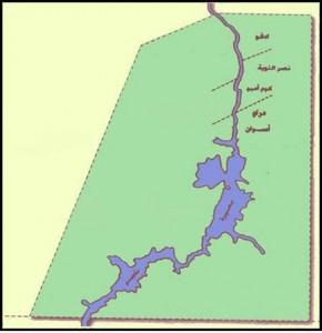 خريطة محافظة أسوان الادارية