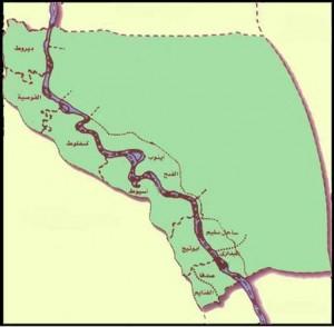 خريطة محافظة أسيوط الادارية