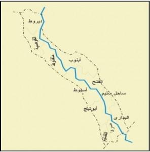 خريطة محافظة أسيوط