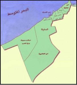 خريطة محافظة الأسكندرية الادارية