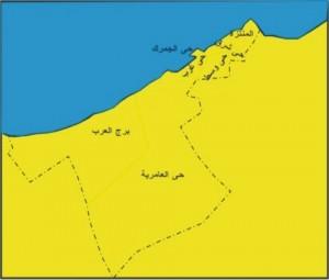 خريطة محافظة الأسكندرية