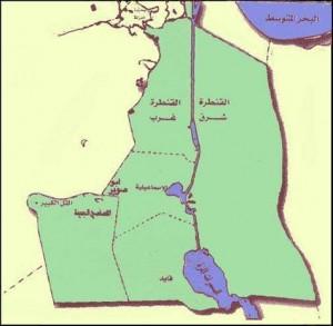 خريطة محافظة الإسماعيلية الادارية