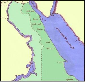 خريطة محافظة البحر الأحمر