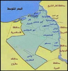 خريطة محافظة البحيرة الادارية