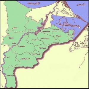 خريطة محافظة الدقهلية الادارية