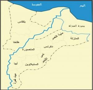 خريطة محافظة الدقهلية