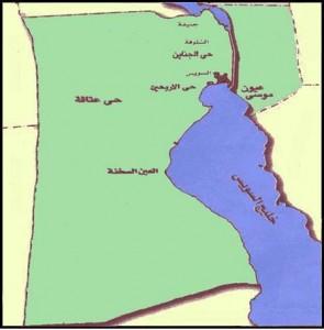خريطة محافظة السويس الادارية