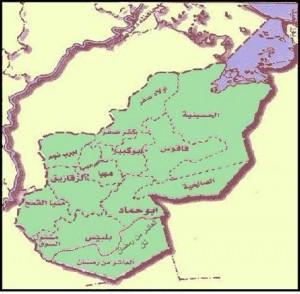 خريطة محافظة الشرقية الادارية