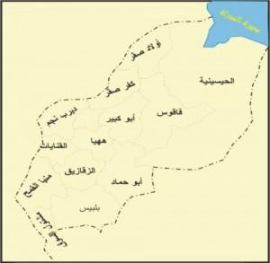 خريطة محافظة الشرقية