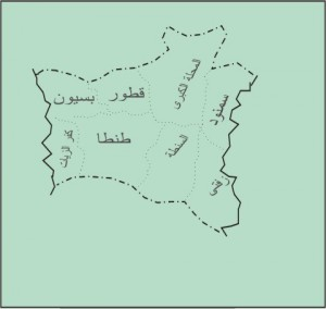 خريطة محافظة الغربية