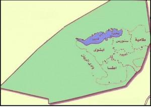 خريطة محافظة الفيوم الادارية