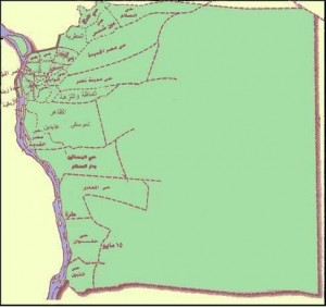 خريطة محافظة القاهرة الادارية