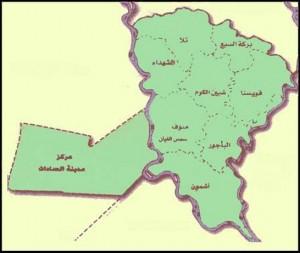 خريطة محافظة المنوفية الادارية