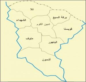 خريطة محافظة المنوفية
