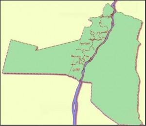 خريطة محافظة بنى سويف الادارية