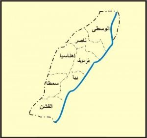 خريطة محافظة بنى سويف