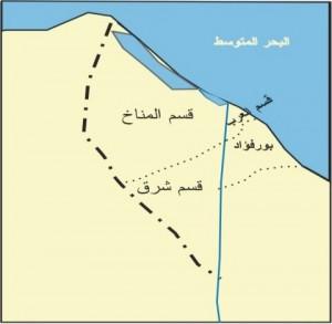خريطة محافظة بورسعيد