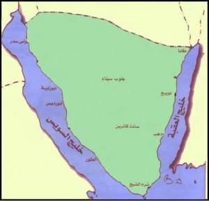 خريطة محافظة جنوب سيناء