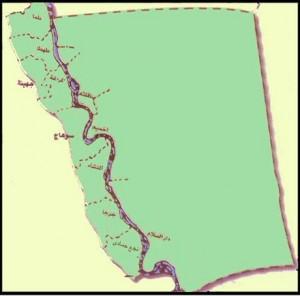 خريطة محافظة سوهاج الادارية