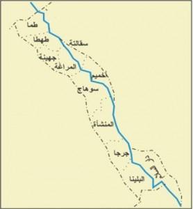 خريطة محافظة سوهاج