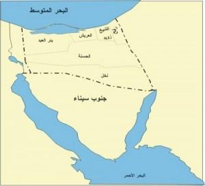 خريطة محافظة شمال سيناء