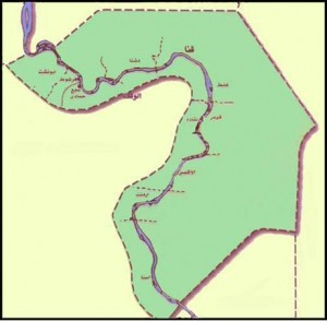 خريطة محافظة قنا الادارية