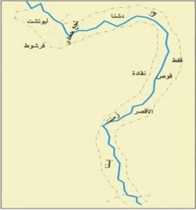 خريطة محافظة قنا