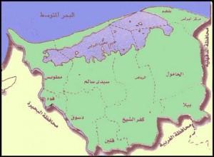 خريطة محافظة كفر الشيخ الادارية