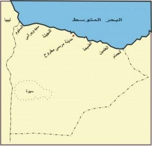 خريطة محافظة مرسى مطروح